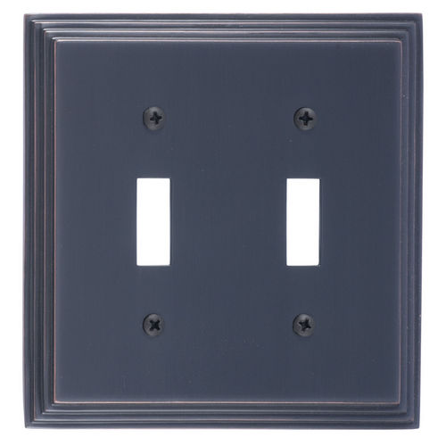 Brass Accents M02-S2530 Classic Steps Double Switch, Venetian Bronze