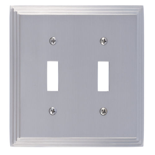 Brass Accents M02-S2530 Classic Steps Double Switch, Satin Nickel