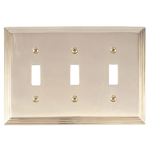 Brass Accents M02-S2550 Classic Steps Triple Switch, Polished Brass