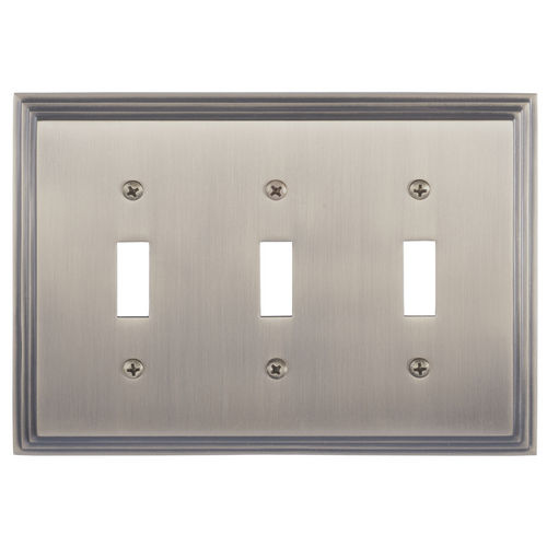 Brass Accents M02-S2550 Classic Steps Triple Switch, Antique Brass