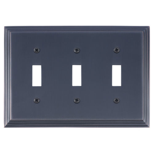 Brass Accents M02-S2550 Classic Steps Triple Switch, Venetian Bronze