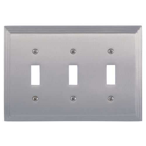 Brass Accents M02-S2550 Classic Steps Triple Switch, Satin Nickel