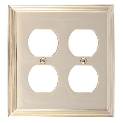 Brass Accents M02-S2560 Classic Steps Double Outlet, Polished Brass