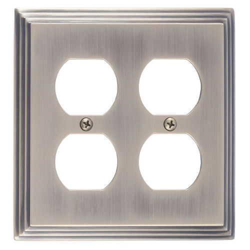 Brass Accents M02-S2560 Classic Steps Double Outlet, Antique Brass