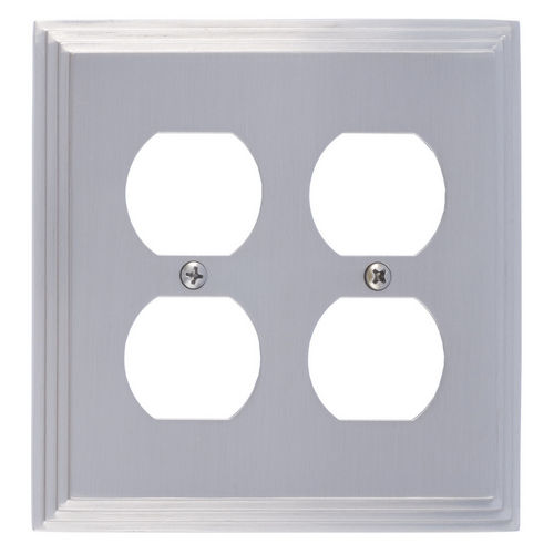 Brass Accents M02-S2560 Classic Steps Double Outlet, Satin Nickel