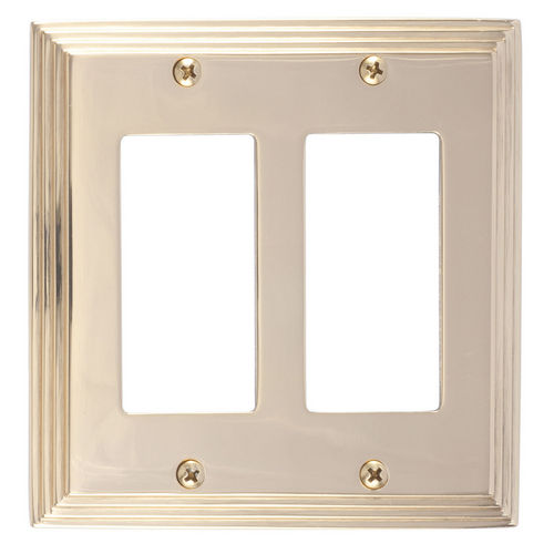 Brass Accents M02-S2570 Classic Steps Double GFCI, Polished Brass