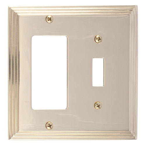 Brass Accents M02-S2571 Classic Steps Double, 1-Switch/1-GFCI, Bright Brass