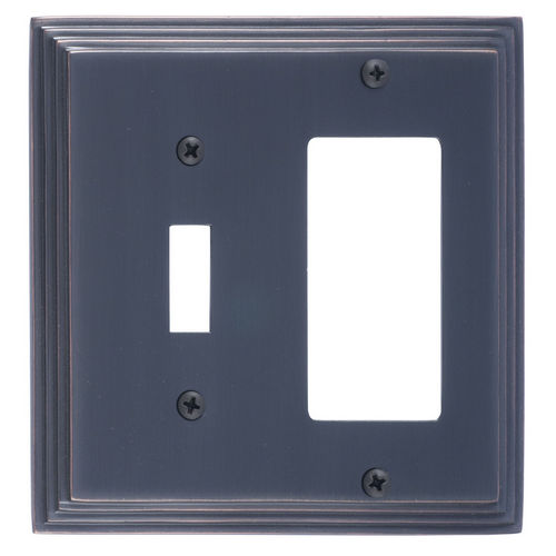 Brass Accents M02-S2571 Classic Steps Double, 1-Switch/1-GFCI, Venetian Bronze