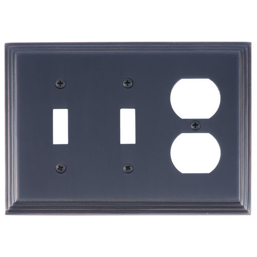 Brass Accents M02-S2580 Classic Steps Triple, 2-Switch/1-Outlet, Venetian Bronze