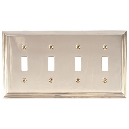 Brass Accents M02-S2591 Classic Steps Quad Switch, Polished Brass