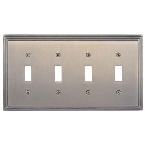 Brass Accents M02-S2591 Classic Steps Quad Switch, Antique Brass
