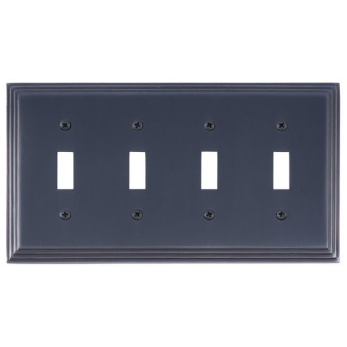 Brass Accents M02-S2591 Classic Steps Quad Switch, Venetian Bronze