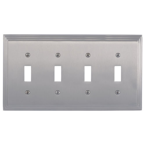 Brass Accents M02-S2591 Classic Steps Quad Switch, Satin Nickel