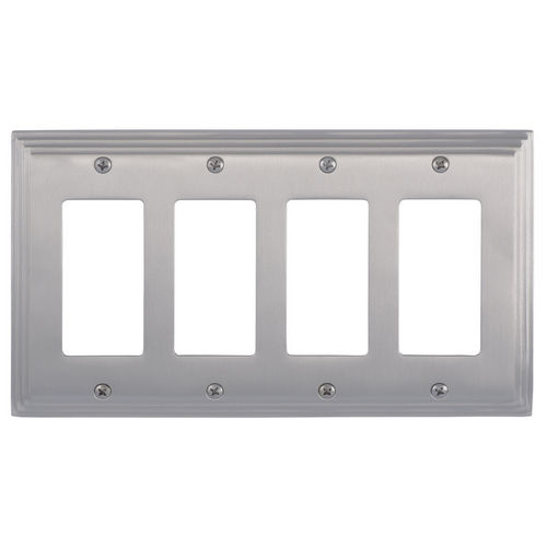 Brass Accents M02-S2592 Classic Steps Quad GFCI, Satin Nickel