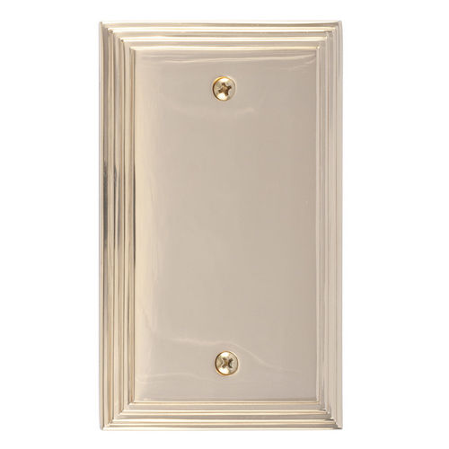 Brass Accents M02-S25X0 Classic Steps Single Blank, Polished Brass