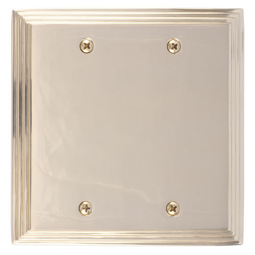 Brass Accents M02-S25XX Classic Steps Double Blank, Polished Brass
