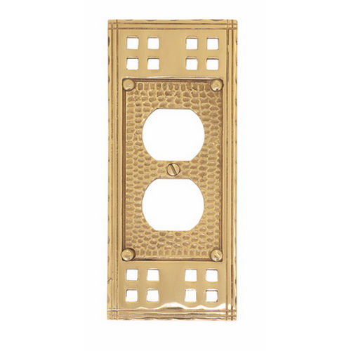Brass Accents M05-S5610 Arts & Crafts Single Outlet 2-3/4