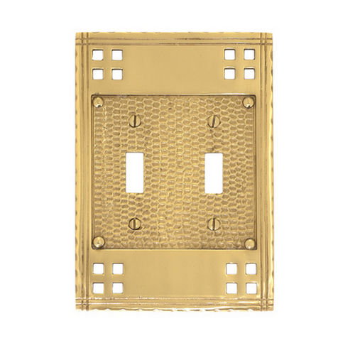 Brass Accents M05-S5630 Arts & Crafts Double Switch 4-1/2