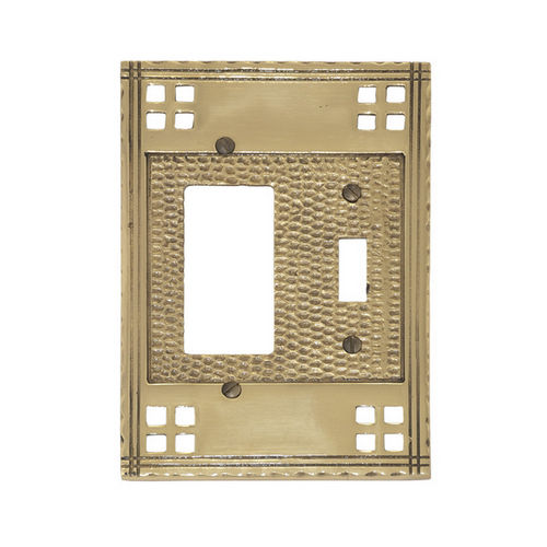 Brass Accents M05-S5671 Arts & Crafts Double Includes 1 Switch & 1 GFCI 4-1/2