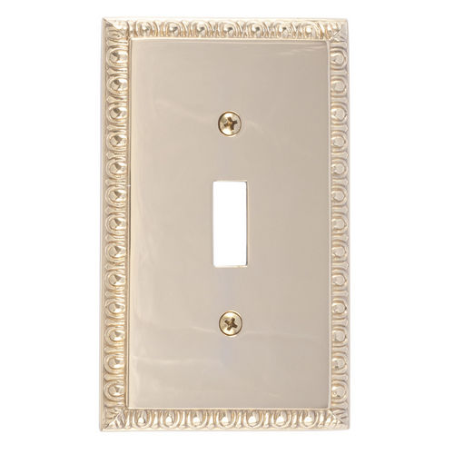 Brass Accents M05-S7500 Egg & Dart Single Switch, Polished Brass