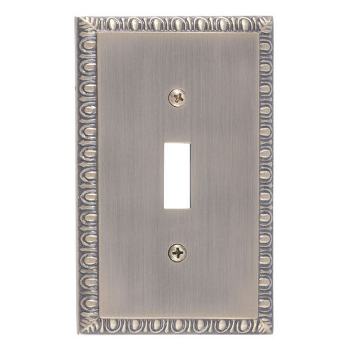 Brass Accents M05-S7500 Egg & Dart Single Switch, Antique Brass