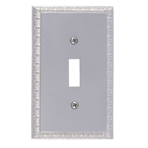Brass Accents M05-S7500 Egg & Dart Single Switch, Satin Nickel