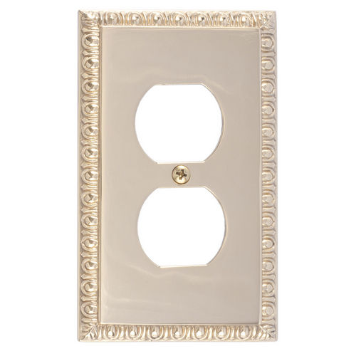 Brass Accents M05-S7510 Egg & Dart Single Outlet, Polished Brass