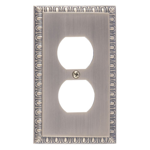 Brass Accents M05-S7510 Egg & Dart Single Outlet, Antique Brass
