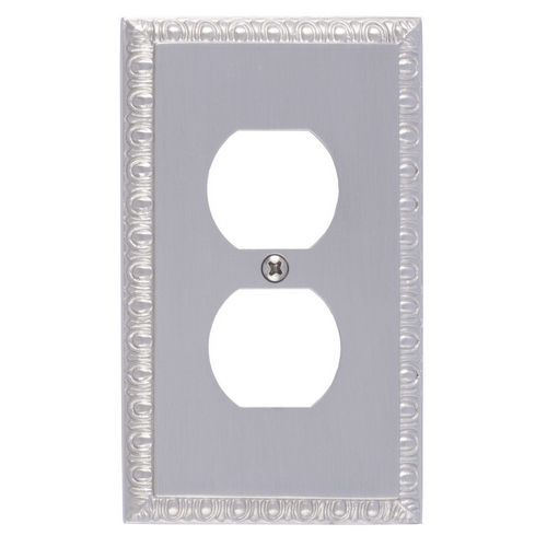 Brass Accents M05-S7510 Egg & Dart Single Outlet, Satin Nickel