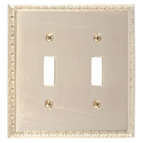Brass Accents M05-S7530 Egg & Dart Double Switch, Polished Brass