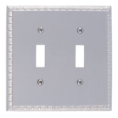 Brass Accents M05-S7530 Egg & Dart Double Switch, Satin Nickel
