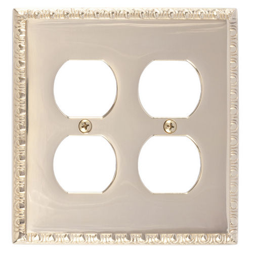 Brass Accents M05-S7560 Egg & Dart Double Outlet, Polished Brass