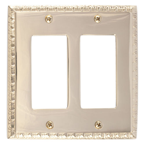 Brass Accents M05-S7570 Egg & Dart Double GFCI, Polished Brass