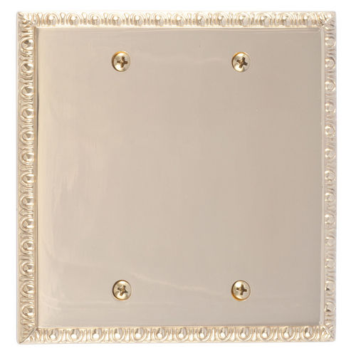 Brass Accents M05-S75XX Egg & Dart Double Blank, Polished Brass