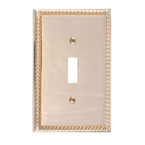 Brass Accents M06-S8500 Georgian Single Switch, Polished Brass