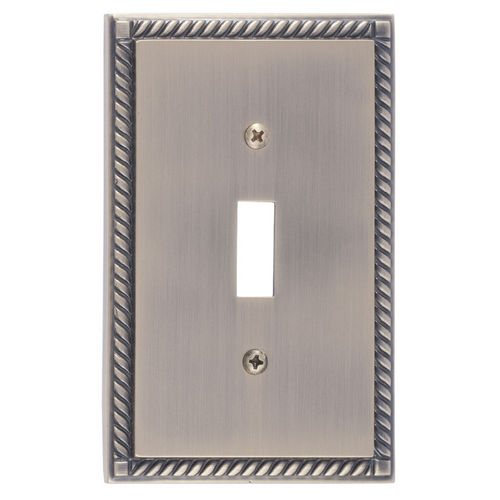 Brass Accents M06-S8500 Georgian Single Switch, Antique Brass