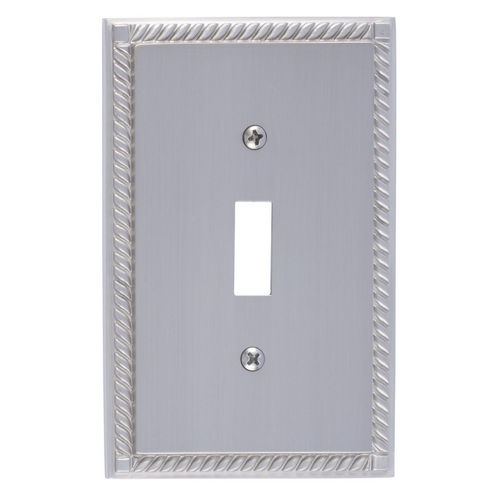 Brass Accents M06-S8500 Georgian Single Switch, Satin Nickel