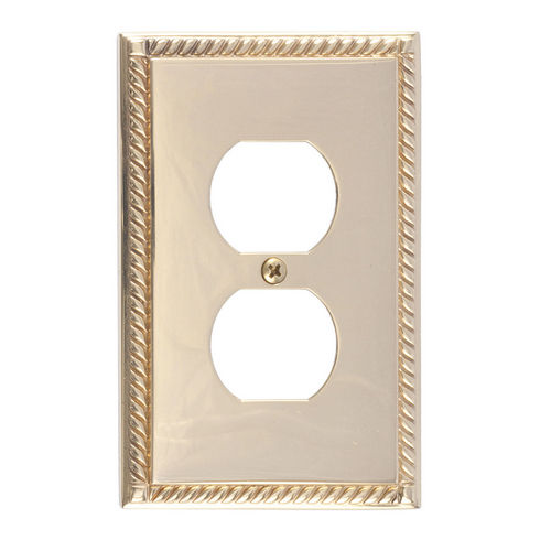 Brass Accents M06-S8510 Georgian Single Outlet, Polished Brass