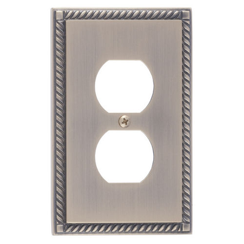 Brass Accents M06-S8510 Georgian Single Outlet, Antique Brass