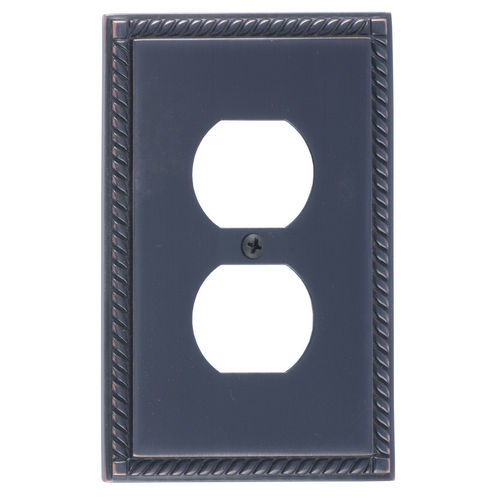 Brass Accents M06-S8510 Georgian Single Outlet, Venetian Bronze