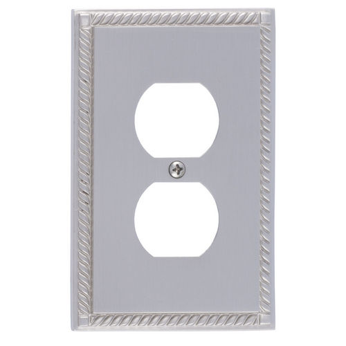 Brass Accents M06-S8510 Georgian Single Outlet, Satin Nickel