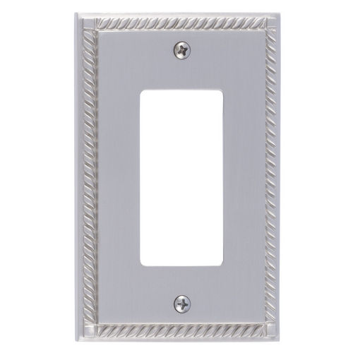 Brass Accents M06-S8520 Georgian Single GFCI, Satin Nickel