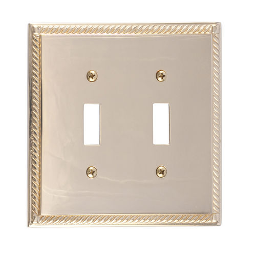 Brass Accents M06-S8530 Georgian Double Switch, Polished Brass