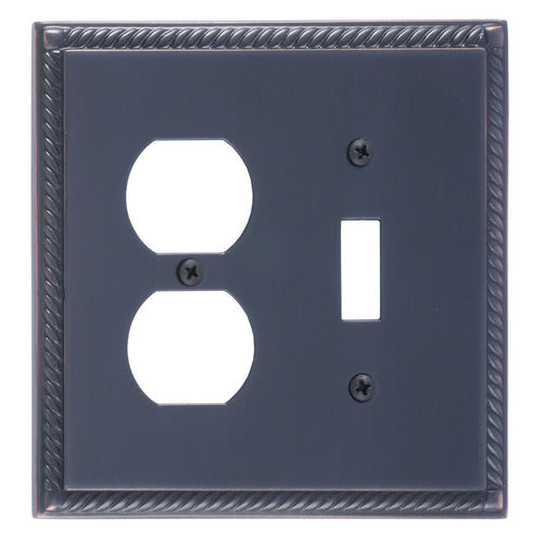 Brass Accents M06-S8540 Georgian Double, 1-Switch/1-Outlet, Venetian Bronze