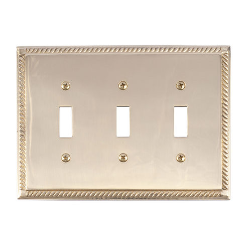 Brass Accents M06-S8550 Georgian Triple Switch, Polished Brass
