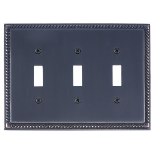 Brass Accents M06-S8550 Georgian Triple Switch, Venetian Bronze