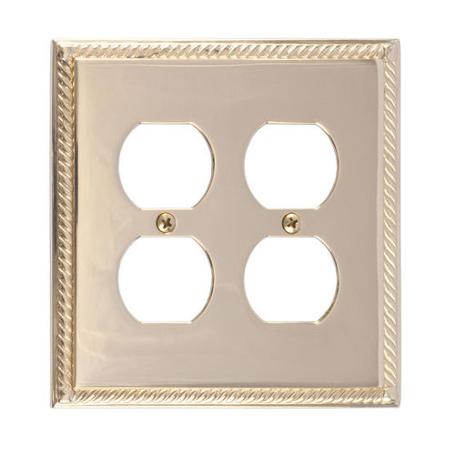 Brass Accents M06-S8560 Georgian Double Outlet, Polished Brass