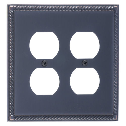 Brass Accents M06-S8560 Georgian Double Outlet, Venetian Bronze