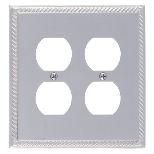 Brass Accents M06-S8560 Georgian Double Outlet, Satin Nickel