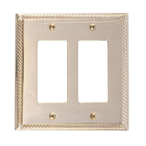 Brass Accents M06-S8570 Georgian Double GFCI, Polished Brass